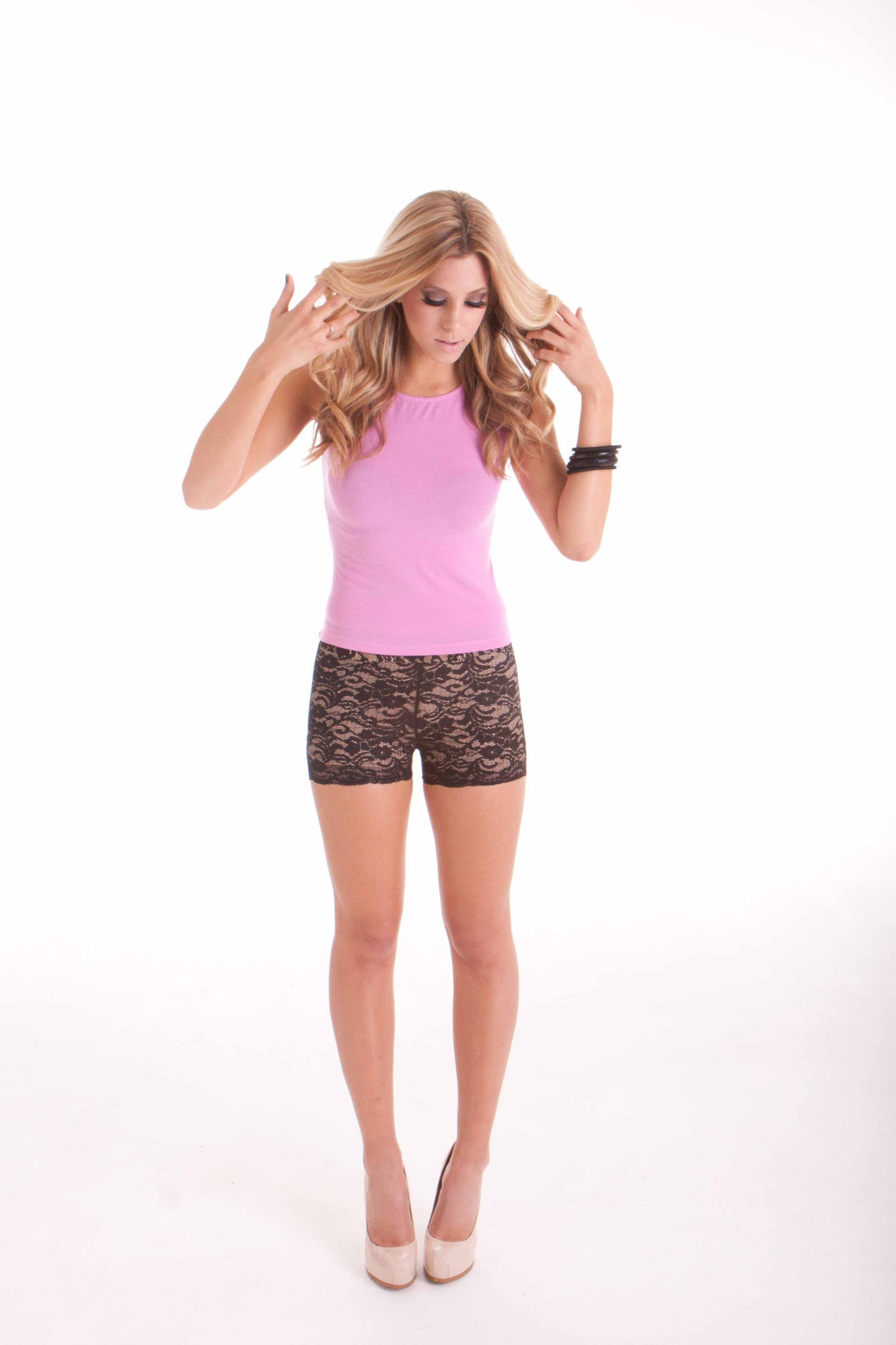 """Leah's"" Lace Boy Shorts"