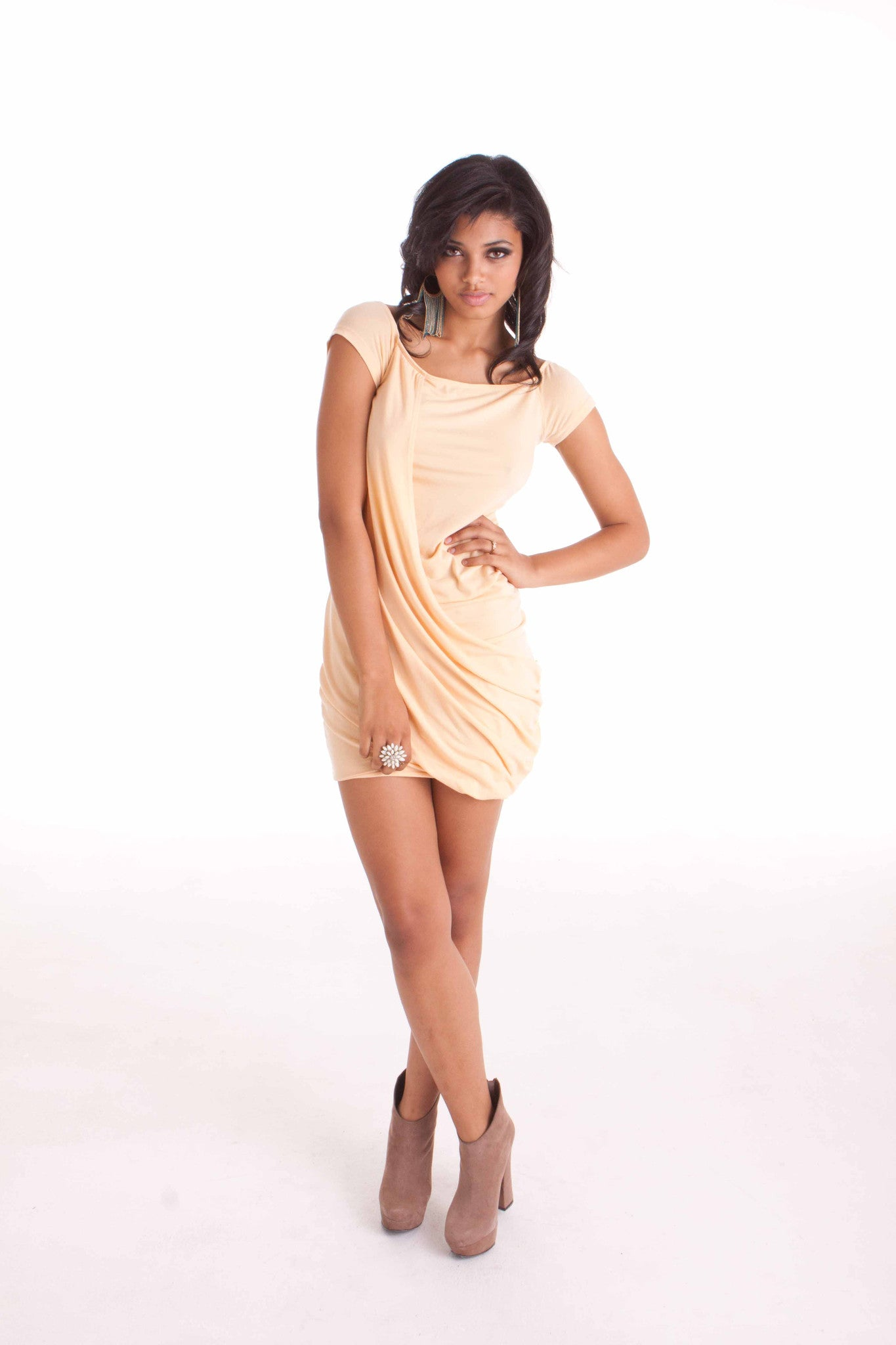 """Stacy"" Draped Dress"