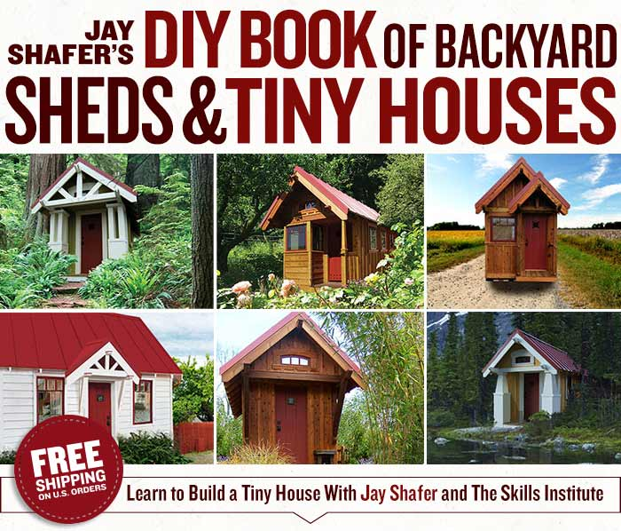 Groovy Jay Shafers Diy Book Of Backyard Sheds And Tiny Houses Four Largest Home Design Picture Inspirations Pitcheantrous