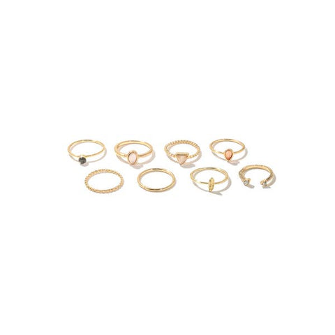 Metallic Band Rings