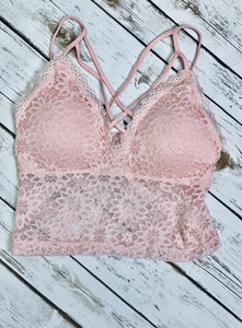 Baby Pink Lace Bralette