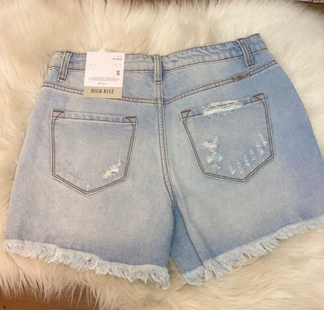 High Rise Distressed Kancan Shorts