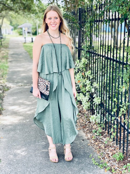 Island Breeze Ruffle Jumpsuit