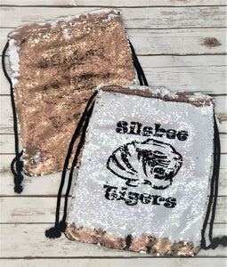 Mermaid Sequin Tiger Bag