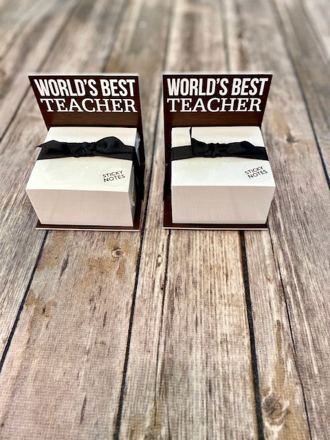 World's Best Teacher Sticky Notes