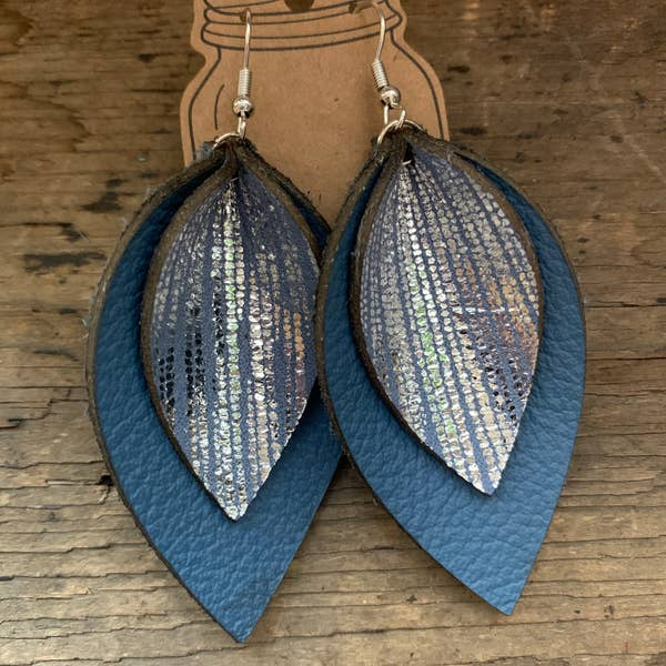 Denim Blue Earrings