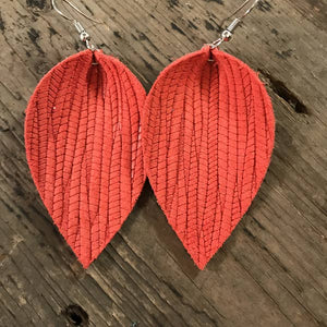 Coral Palm Earrings