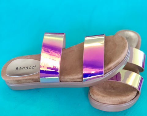 Women's Metallic Strapped Sandals