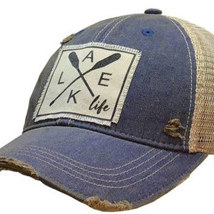 Lake Life Distressed Hat