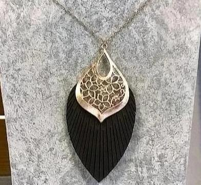 Leather Filigree Necklace