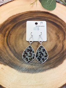 Blue Bayou Leopard earrings