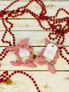 Red and White Hair bows