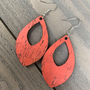 Orange Coral Earrings
