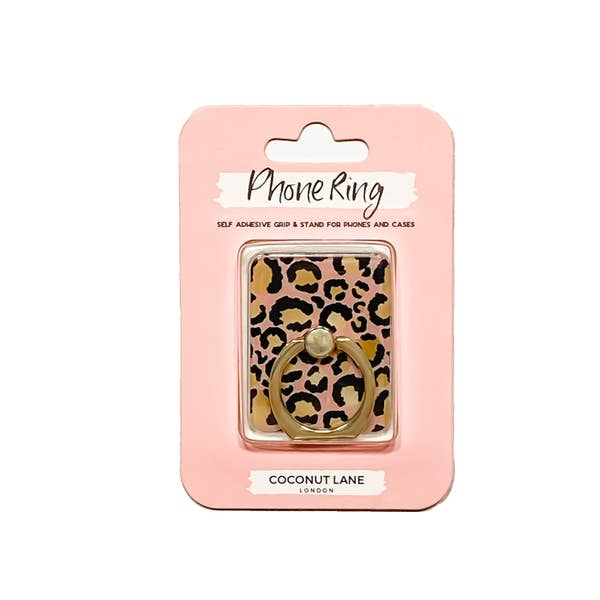 Trendy Phone Ring or Stand- Gold Leopard