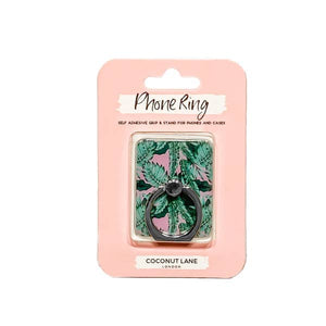 Trendy phone ring or stand with palm tree print