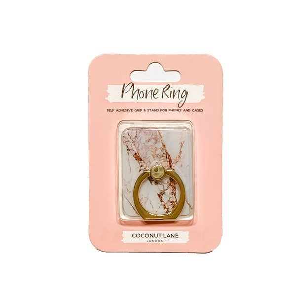 Trendy Phone Ring or Stand in Rose Gold Marble