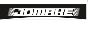 JDMake windshield banner black and white