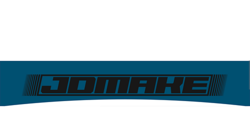 JDMake windshield banner blue and black