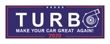 TURBO 2020 Bumper Sticker