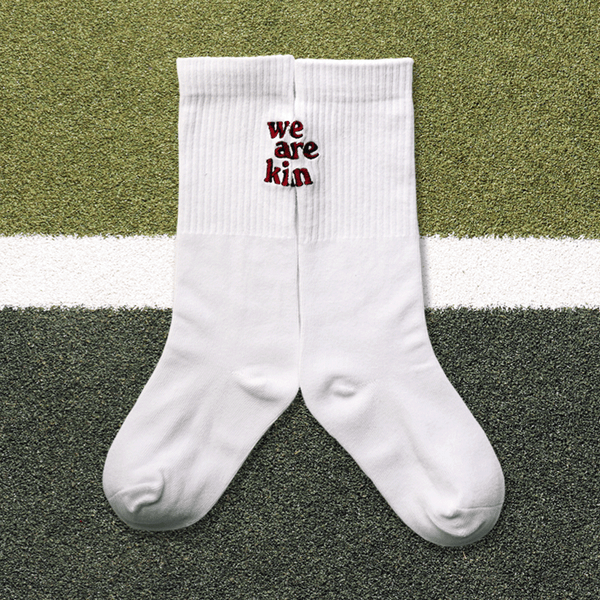 decb38ea5fc08 we are kin crew sock in white burgundy