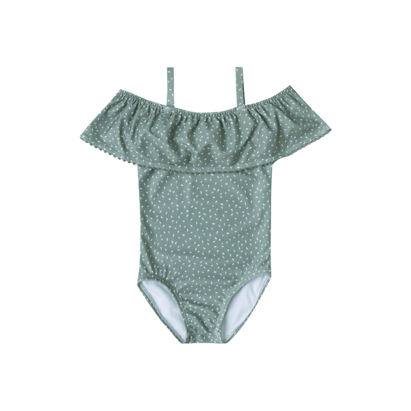 Rylee + Cru off the shoulder seeds swimsuit