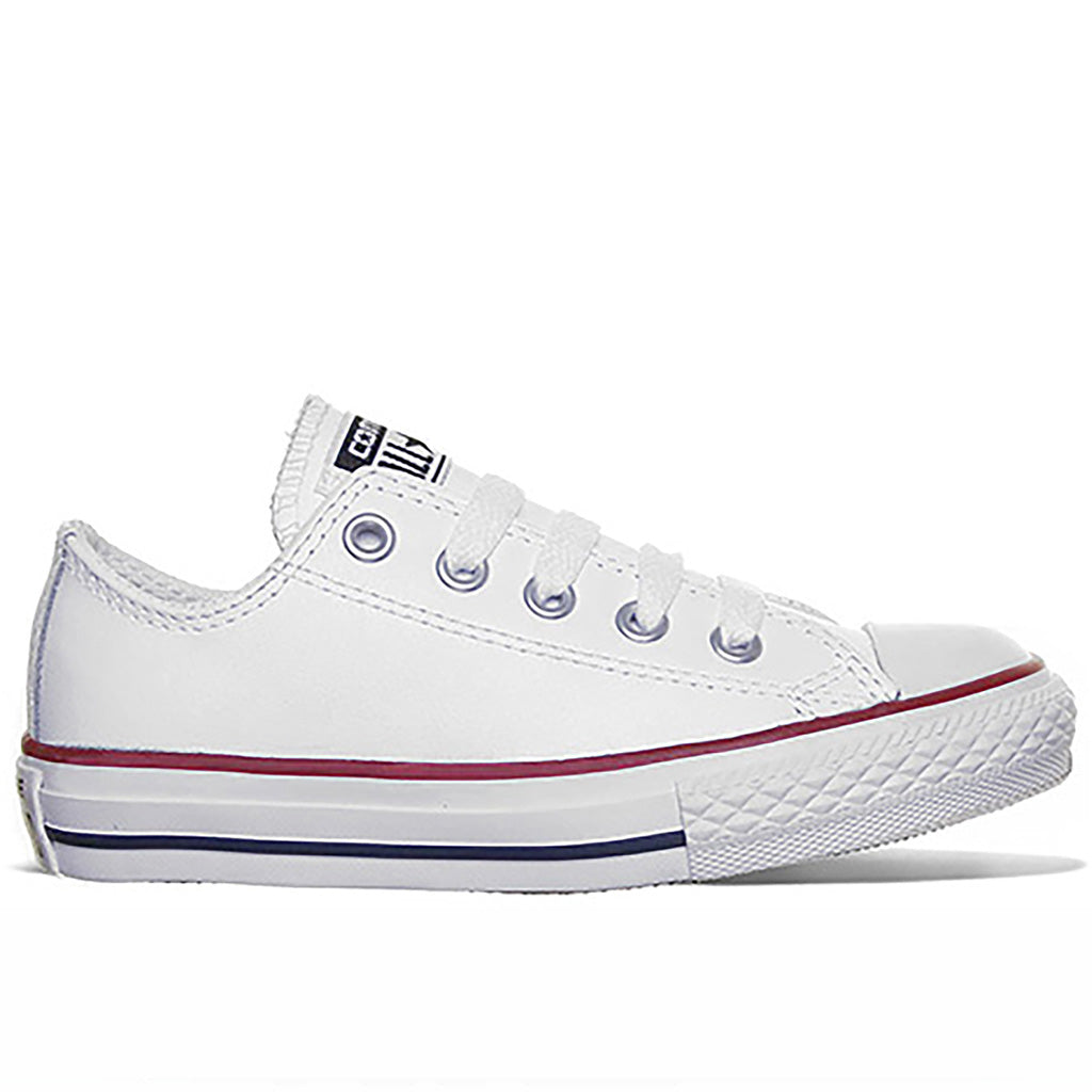 Chuck Taylor All Star Low Tops in White Leather