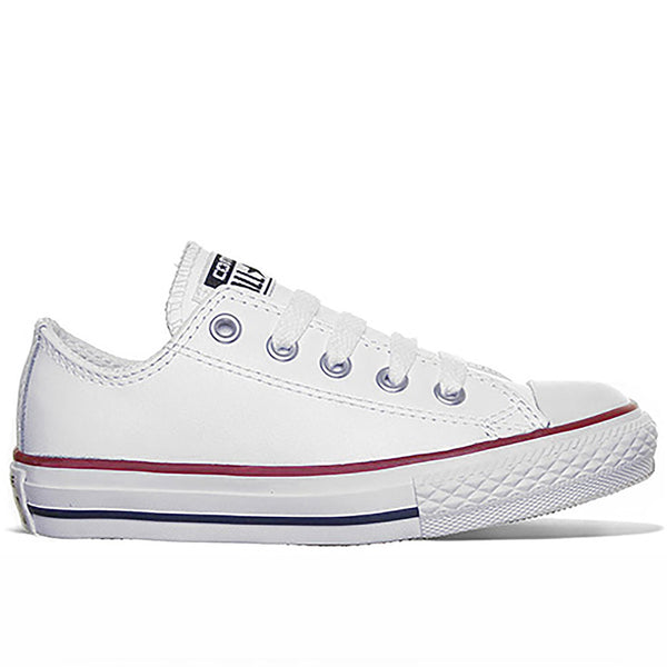Chuck Taylor All Star Low Tops in White Leather Quick shop. Converse 694bbbfc3b5b6