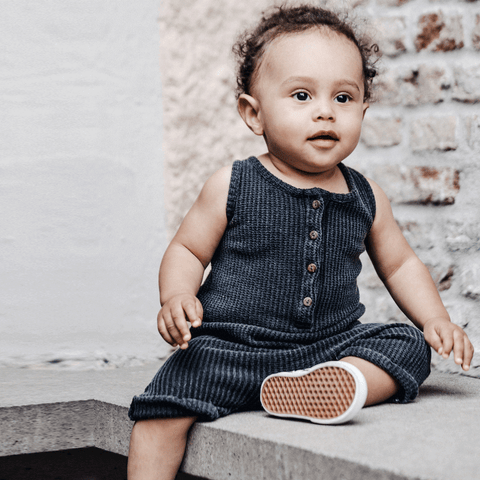 I dig denim Ronin baby jumpsuit in dark grey