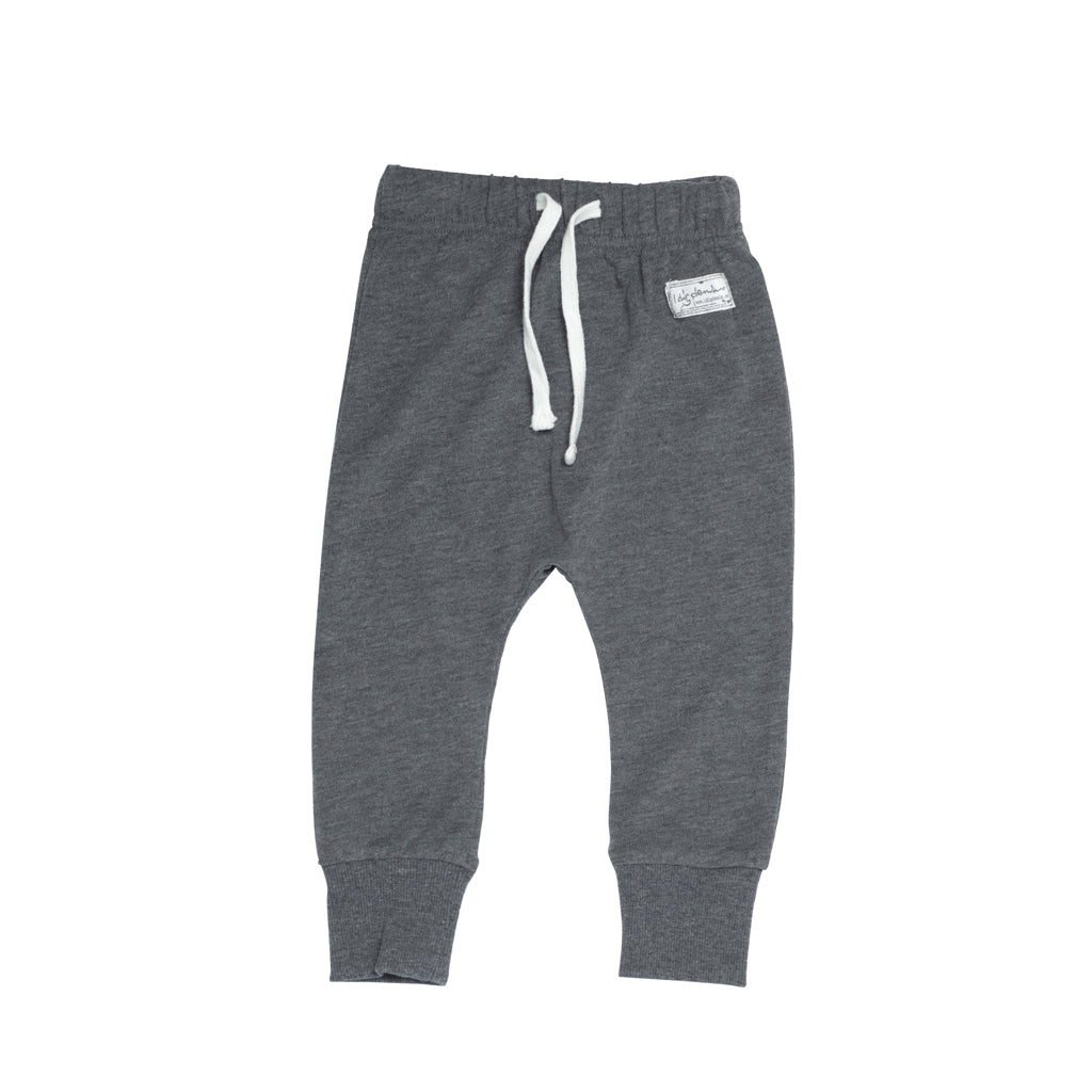 I dig denim baby wayne pant in dark grey melange