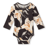 Popupshop long sleeve lilium flower body suit