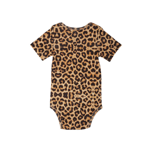 Popupshop baby classic body suit short sleeve in leopard