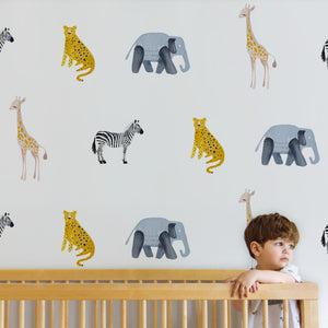 Safari Decal Set - Wall Decal - Non-Toxic, Reusable, Repositionable