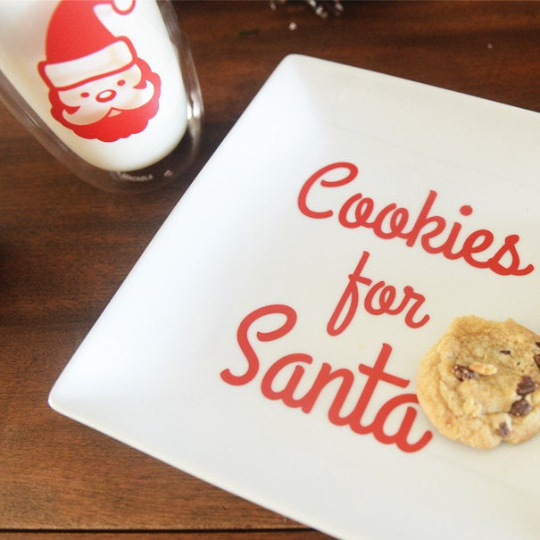 Cookies and Milk for Santa Decals