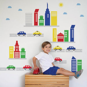 Buildings and Cars Decals
