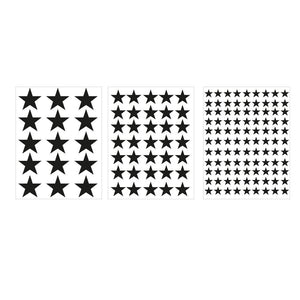 Assorted Stars Decals