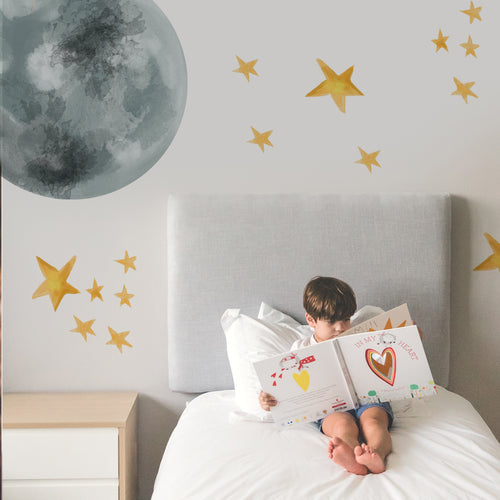 Over The Moon - Wall Decal - Non-Toxic, Reusable, Repositionable