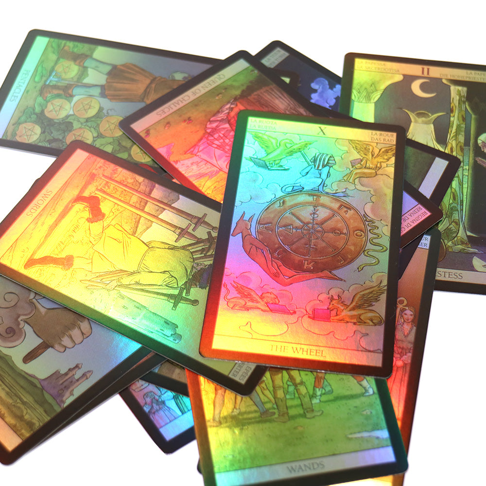 78 PCS HOLOGRAPHIC TAROT CARDS