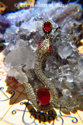 ARADIA Mistress of Magick, Inner Transformation, Spiritual Wisdom/Knowledge Spellbound Ruby Snake Pendant