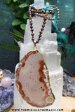 """The Prophet"" PLUME AGATE NECKLACE for  Psychic Visions and Self Confidence"