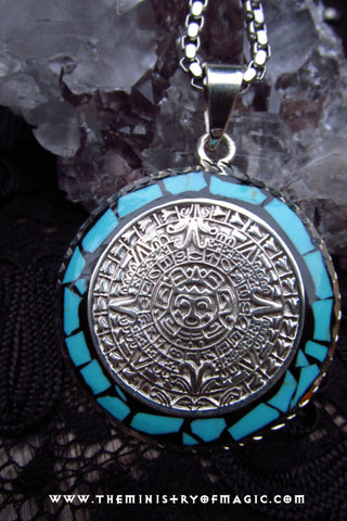Ultimate Mayan Alien Energy Vortex Limitless Luck Attractor Talisman Pendant