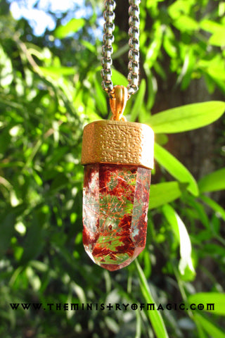 Fire Quartz *DIVINE FLAME MANIFESTATION* CRYSTAL PENDANT