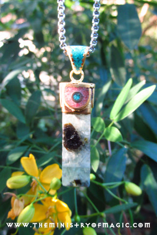 """The Genius Stone"" FLUORITE CRYSTAL PENDANT #3"