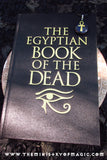 Mysterious Spellbound Egyptian Book of the Dead plus Programmed Ankh Gemstone Talisman