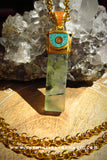 Quantum Gods Supreme Knowledge Enhancement Spellbound Fluorite Gemstone Pendant #1