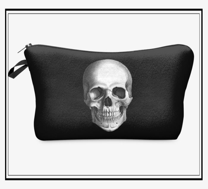 BLACK MYSTIC SKULL TREASURE POUCH
