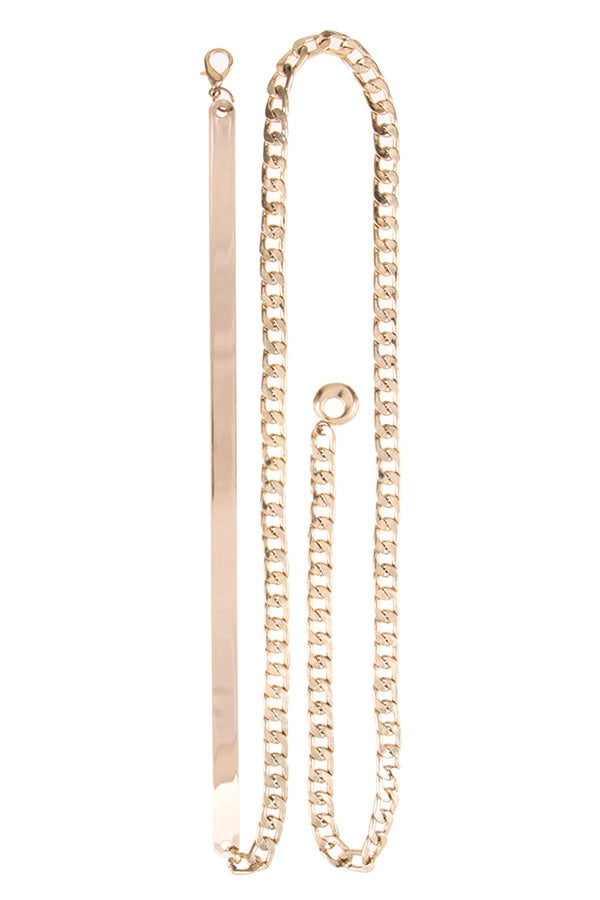 Metal Plate Chain Belt