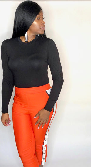 Black Long Sleeve Sleek Bodysuit