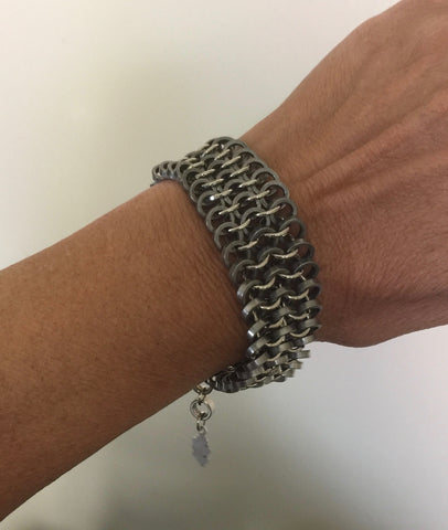 Bracelet - Full Chain Maille/Bike Bearing Bracelet