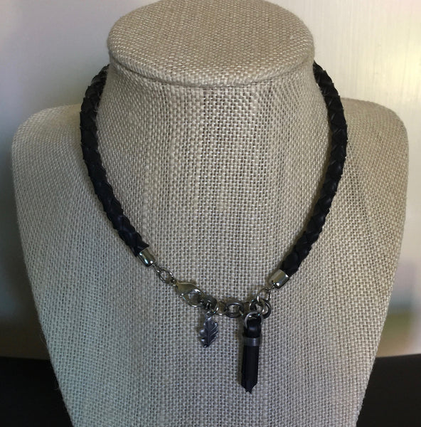 Bracelet - Braided Cord Double Wrap Converts to Necklace