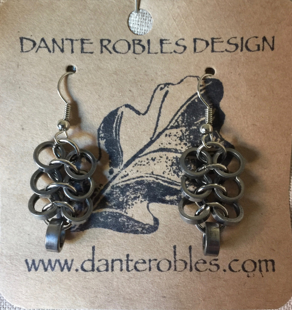 Earrings - Chain Maille